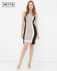Petite Colorblock Sheath Dress