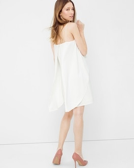 Cutaway Tiered Slip Dress
