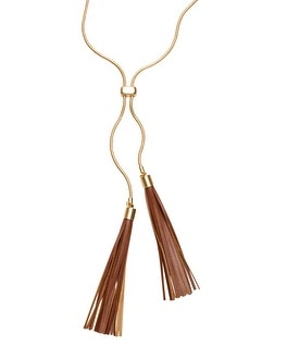 Leather Double-Tassel Necklace