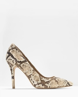 Olivia Leather Exotic Print Pumps