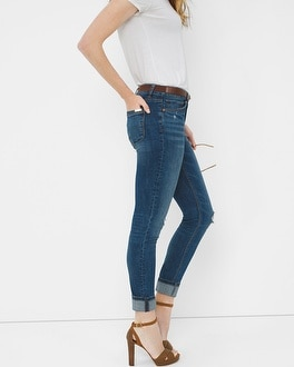 Destructed Skimmer Jeans