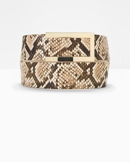 Leather Exotic Print Belt