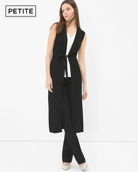 Petite Sleeveless Ribbed Coverup