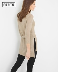 Petite Belt-Back Knit Tunic