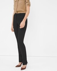 Split-Leg Slim Pants