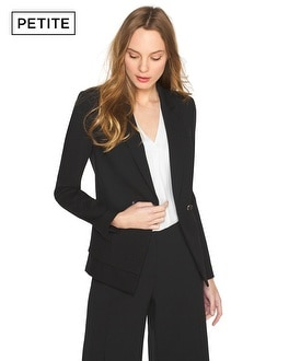 Petite Two-Button Ponte Blazer