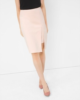 High-Slit Pencil Skirt