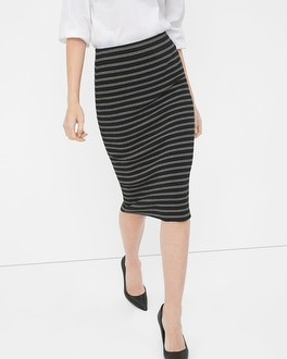 Stripe Sweater Pencil Skirt