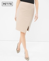 Petite Wrapped Pencil Skirt