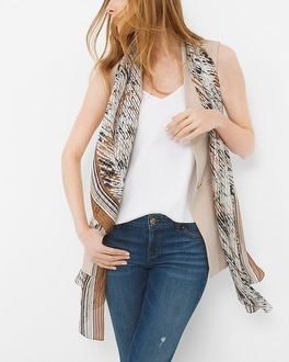 Silk Shadow Stripe Scarf