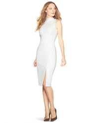Mock Neck Midi Sheath Dress