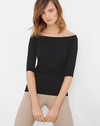 3/4 Sleeve At-The-Shoulder Top