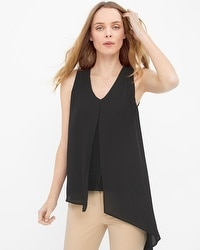 Woven-Overlay Top