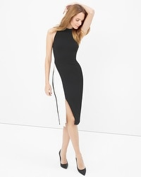 Colorblock Contrast Sheath Dress