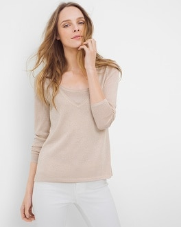 Shimmer V-Neck Sweater