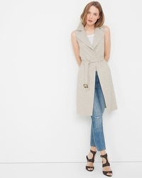 Sleeveless Tweed Trench