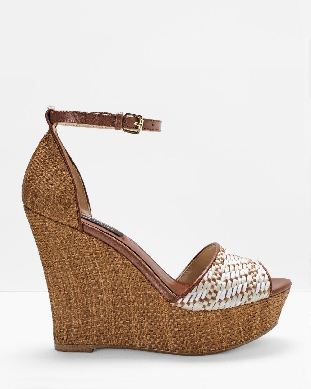 809054d2224 Raffia Wedge Sandals - White House Black Market