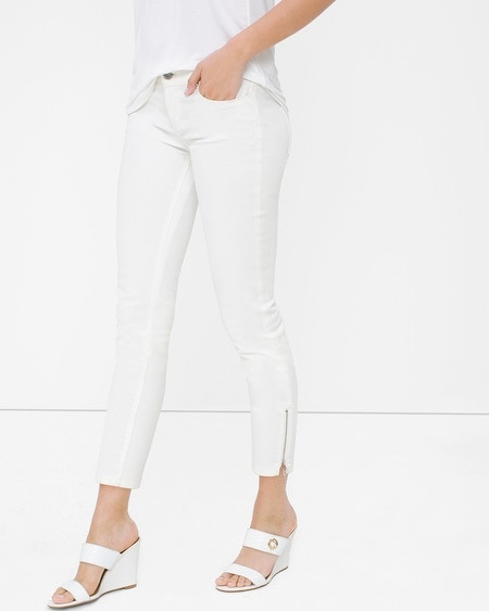 White Skinny Crop Jeans