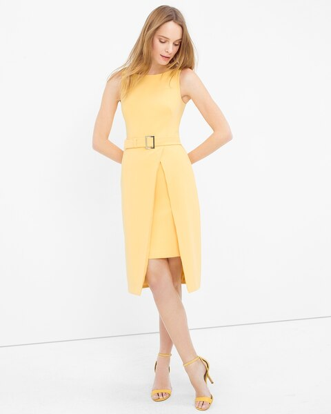 Split-Front Layered Sheath Dress - WHBM