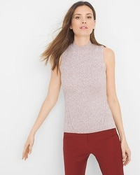 Marled Mock Neck Sweater