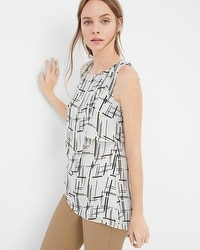 Sleeveless Printed Tunic