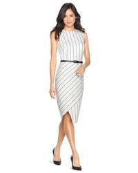 Striped Asymmetric Sheath Dress