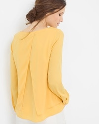 Layered Split-Back Blouse