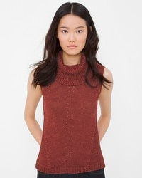Sleeveless Cowlneck Sweater