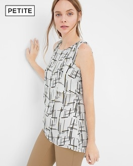 Petite Sleeveless Printed Tunic