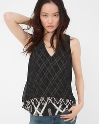 Overlay Printed Top