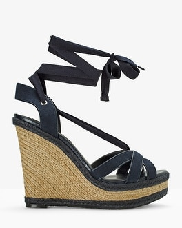 Ankle-Wrap Wedge Sandals