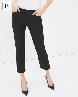 Petite Straight Crop Pants