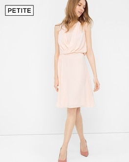 Petite Sleevless Surplice Dress