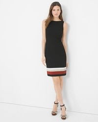 Colorblock Hem Sheath Dress