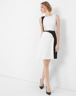 Colorblock A-Line Dress