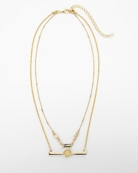 Convertible Double-Strand Bar Necklace