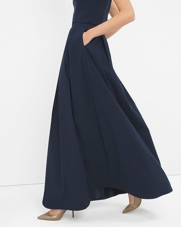 Pleated Taffeta Ball Skirt