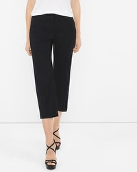 Linen-Blend Wide-Leg Crop Pants
