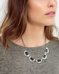 Jet Stone Short Necklace