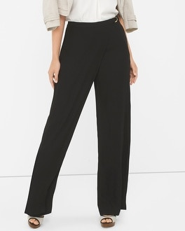 Curvy Wrapped Front Wide Leg Pants