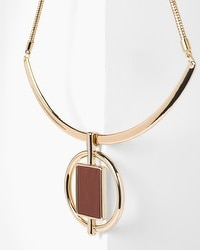 Circle Leather Collar Necklace
