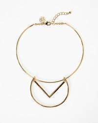 Circle Chevron Collar Necklace