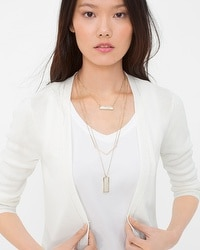 Convertible Shell Multi-Row Necklace