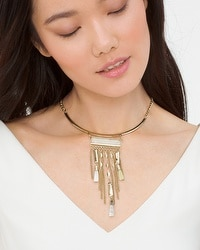 Fringe Shell Collar Necklace