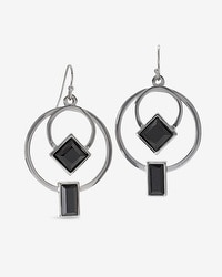 Double Hoop Geometric Earrings