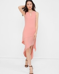 Asymmetric Layered Midi Dress