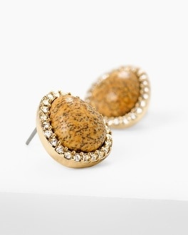 Jasper Stud Earrings