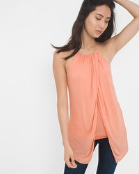 Drape Halter Surplice Top