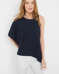 Cape Sleeve Asymmetric Top