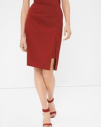 High Slit Pencil Skirt
